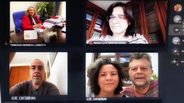 Reunión sobre Cantarriján con la Delegada de D.S de La Junta de Andalucía
