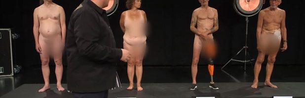 """Desnudez en un programa de TV infantil para desmontar el mito del """"cuerpo perfecto""""."""